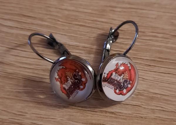 Red Dragons - Hänger Ohrringe ø 12mm